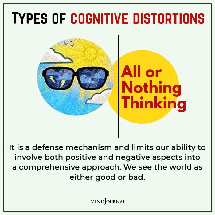 Cognitive Distortions all or nothing thinking