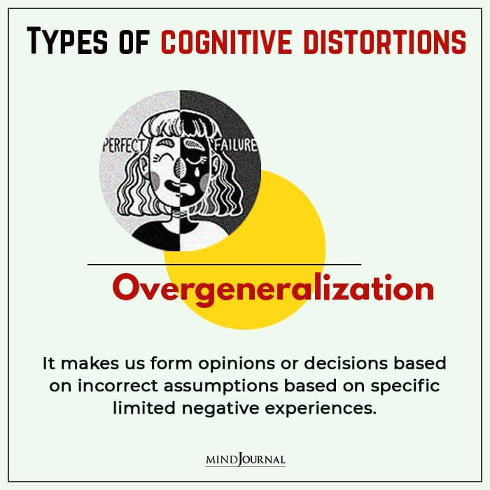 Cognitive Distortions overgeneralization