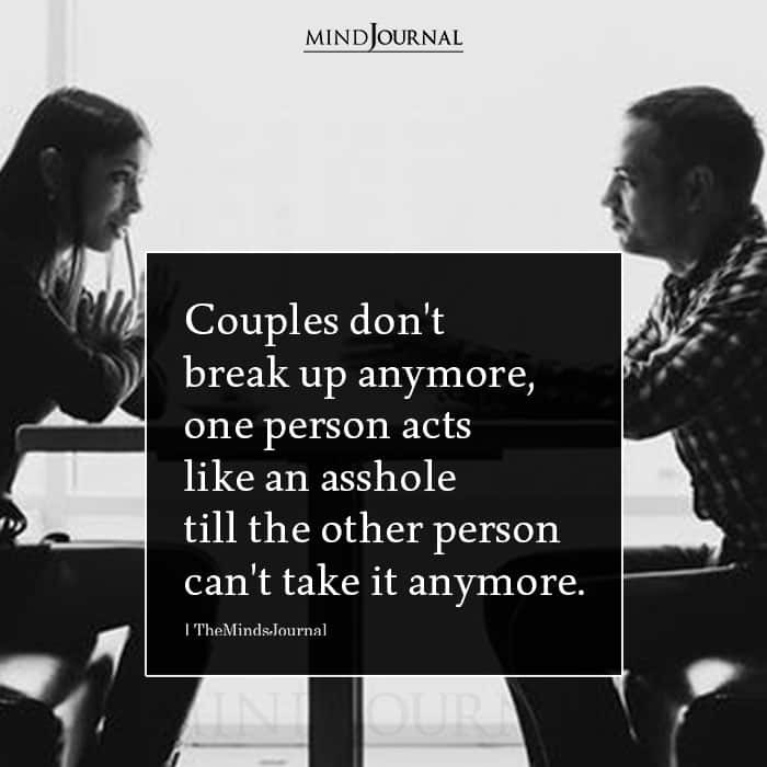 Couples Dont Breakup Anymore