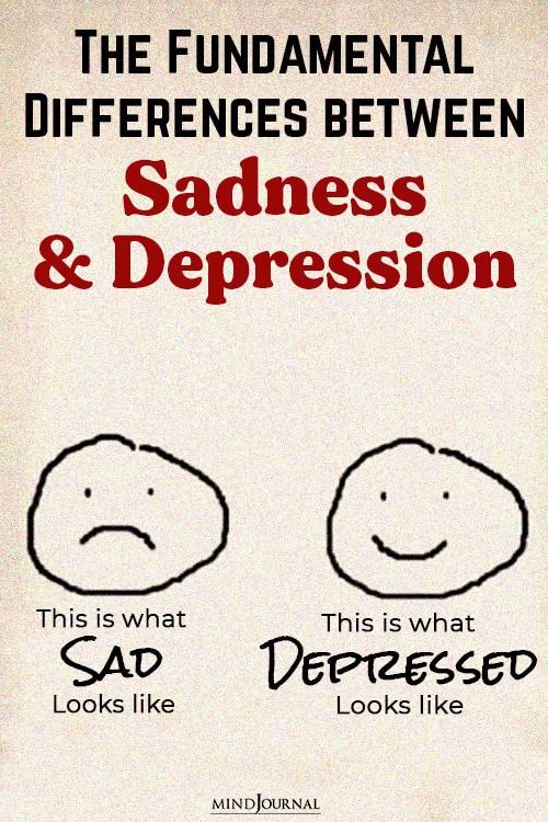 Differences Sadness Depression pin