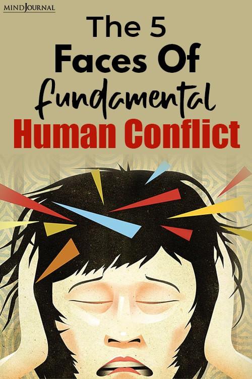 Faces Fundamental Human Conflict pin