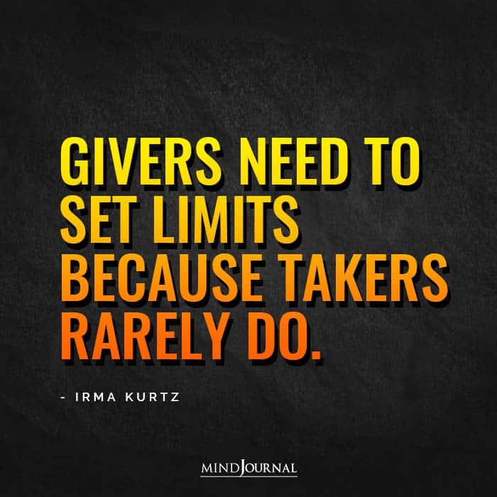 Givers need to set limits