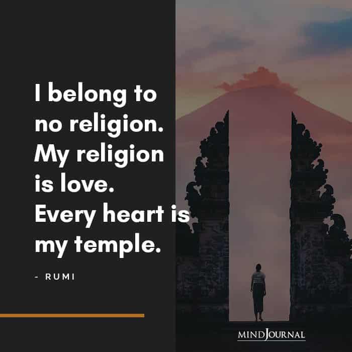 I belong to no religion