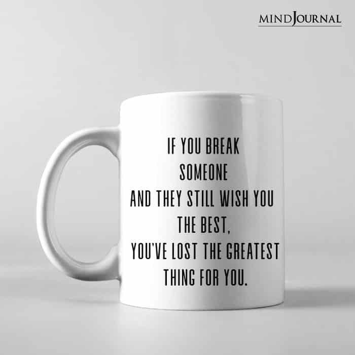 If you break someone