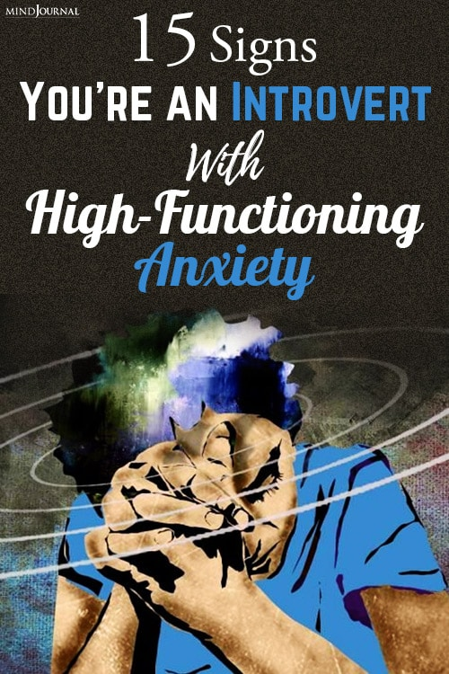 Introvert HighFunctioning Anxiety pin