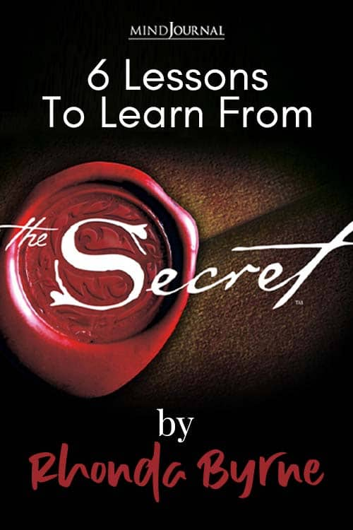 Lessons To Learn From the Secret by Rhonda Byrne Pin