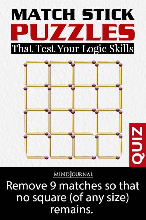 Matchstick Puzzles Logic Skills pin