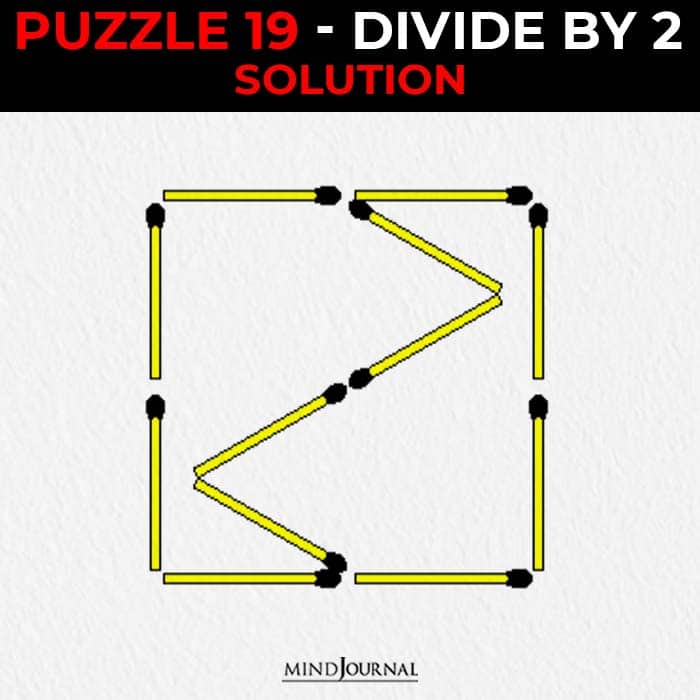 Matchstick Puzzles Test Logic Skills divide by two solution