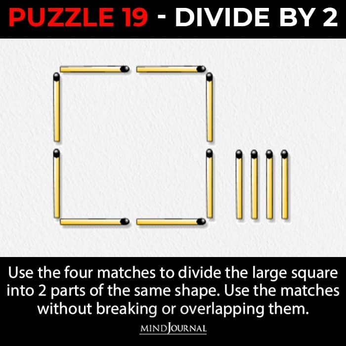 Matchstick Puzzles Test Logic Skills divide by two