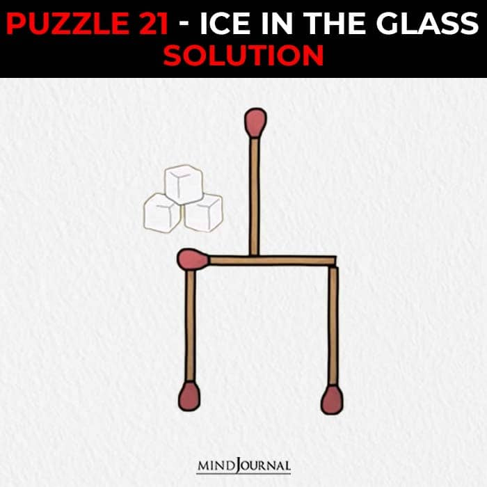 Matchstick Puzzles Test Logic Skills ice in the glass solution