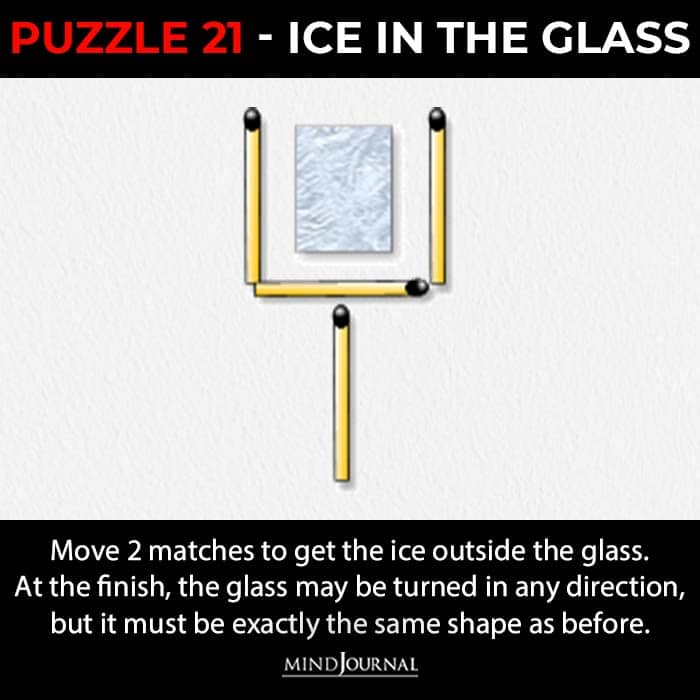 Matchstick Puzzles Test Logic Skills ice in the glass