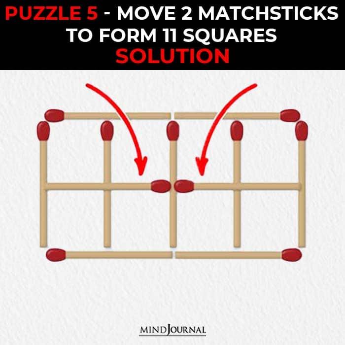 Matchstick Puzzles Test Logic Skills move make square solution
