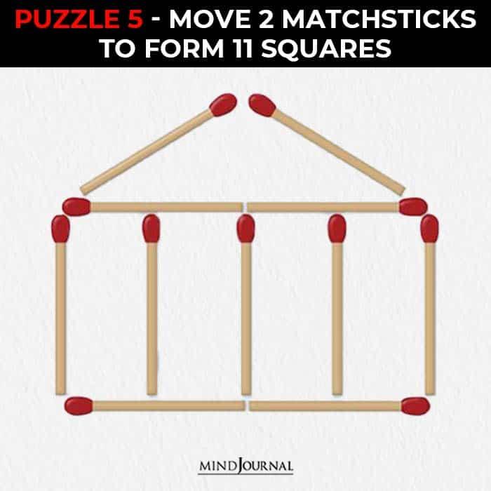 Matchstick Puzzles Test Logic Skills move make square