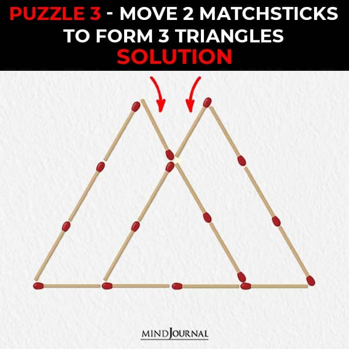 Matchstick Puzzles Test Logic Skills move make triangles solution