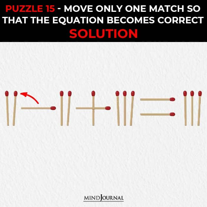 Matchstick Puzzles Test Logic Skills move one stick correct equation solution