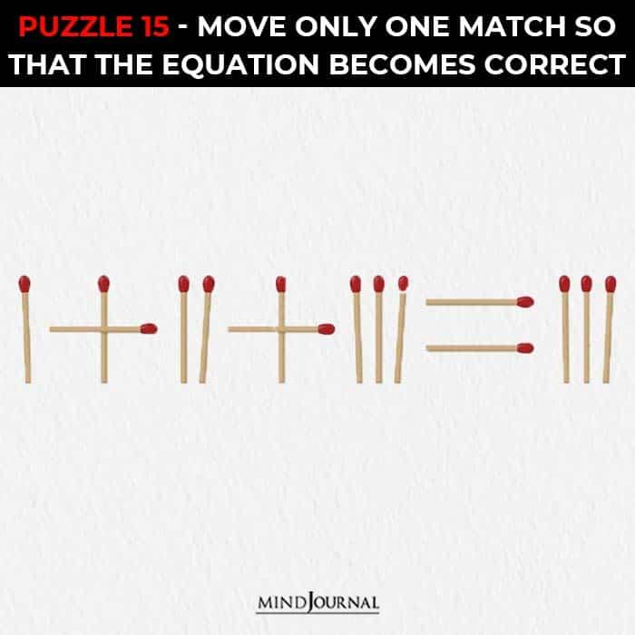 Matchstick Puzzles Test Logic Skills move one stick correct equation