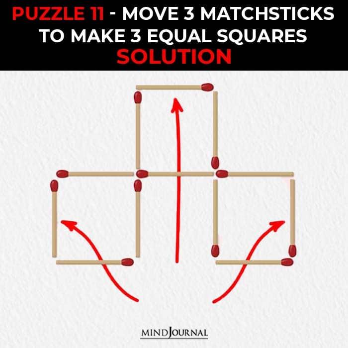 Matchstick Puzzles Test Logic Skills move sticks equal squares solution