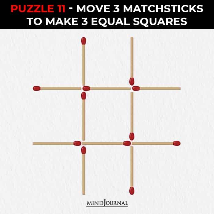 Matchstick Puzzles Test Logic Skills move sticks equal squares