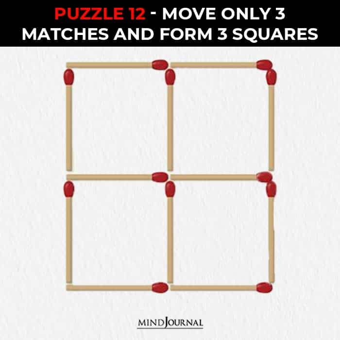 Matchstick Puzzles Test Logic Skills move sticks form squares