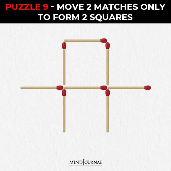 Matchstick Puzzles Test Logic Skills move two sticks form two triangles