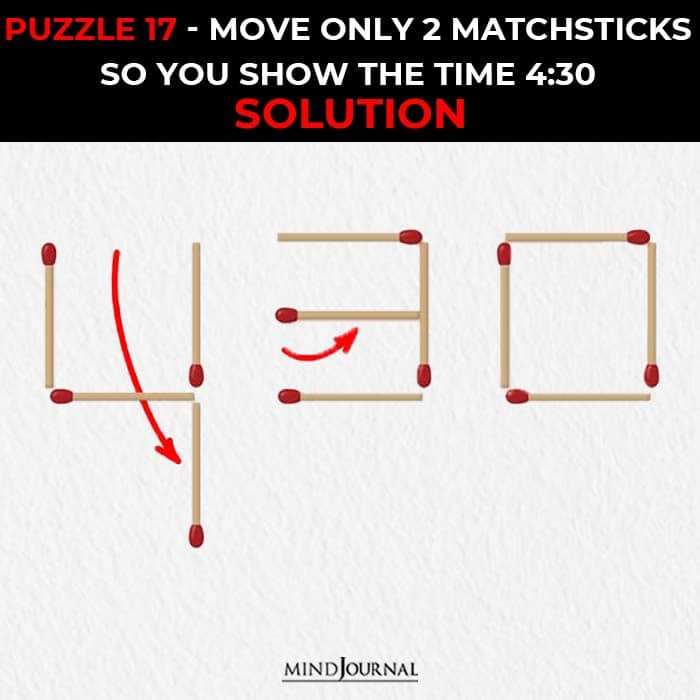Matchstick Puzzles Test Logic Skills move two sticks show time solution