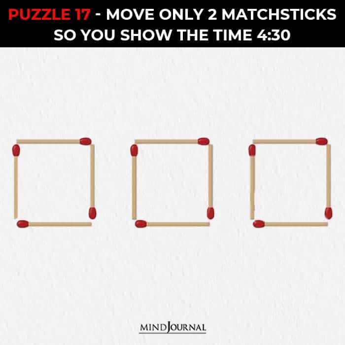 Matchstick Puzzles Test Logic Skills move two sticks show time
