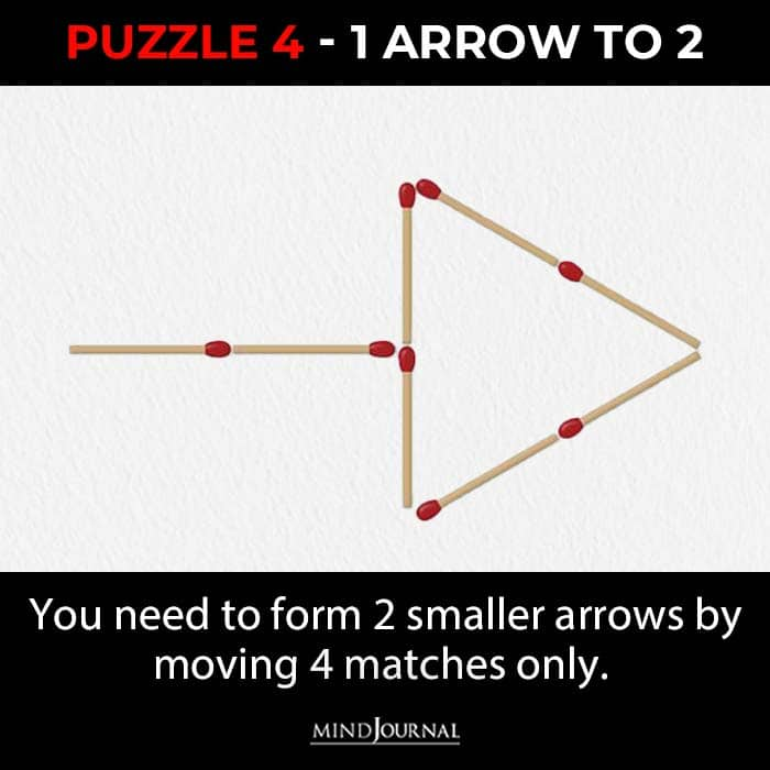Matchstick Puzzles Test Logic Skills one arrow to two