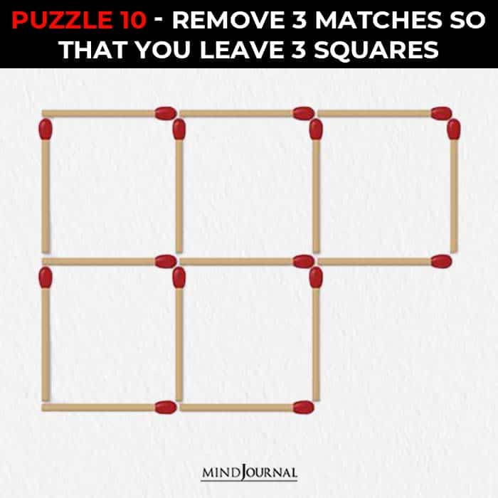 Matchstick Puzzles Test Logic Skills remove leave squares
