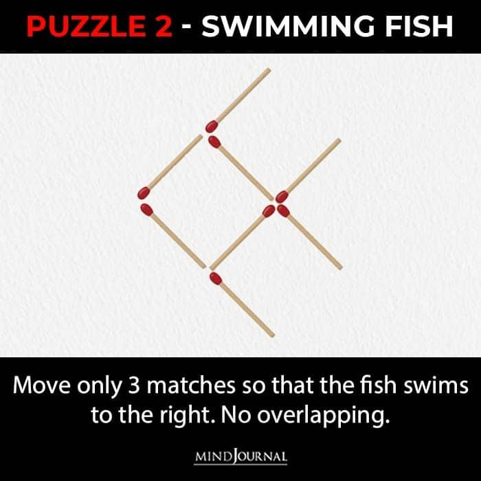 Matchstick Puzzles Test Logic Skills swimming fish