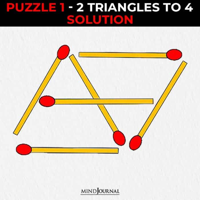 Matchstick Puzzles Test Logic Skills triangle solution