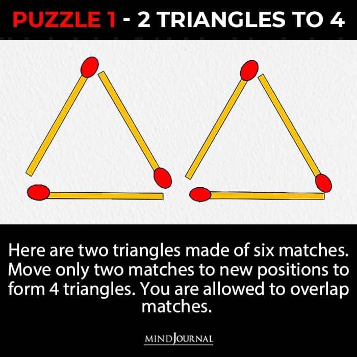 Matchstick Puzzles Test Logic Skills triangle