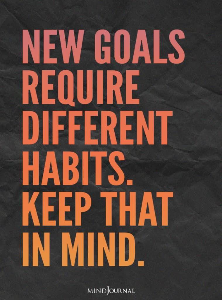 New Goals Require Different.