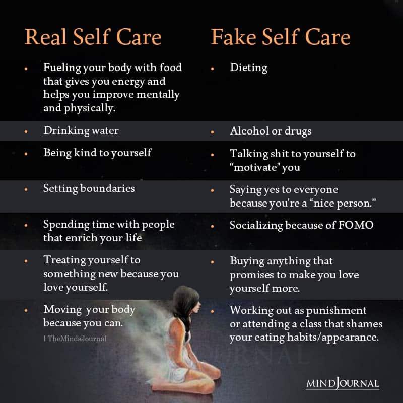 Real Self Care Vs Fake Self Care
