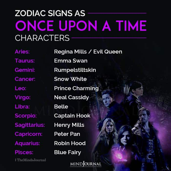 Signs As Once Upon A Time Characters
