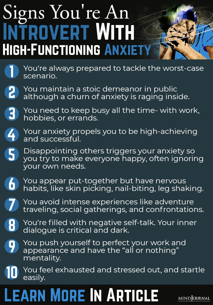 Signs Introvert HighFunctioning Anxiety info