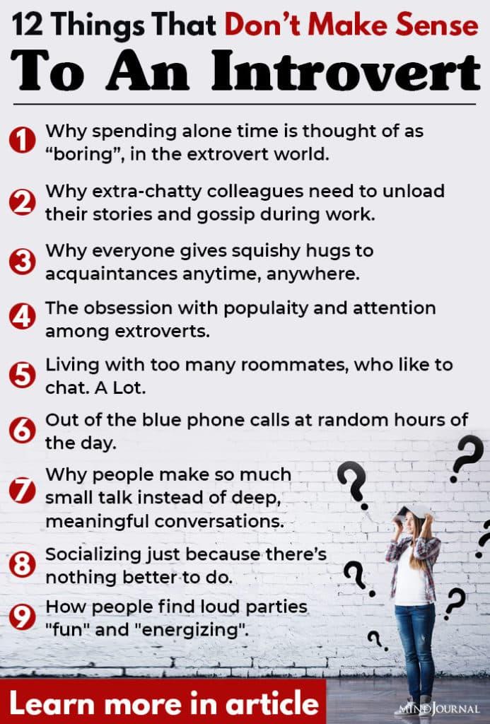 Things Dont Make Sense Introvert info