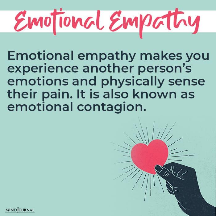 Types of Empathy Emotional empathy