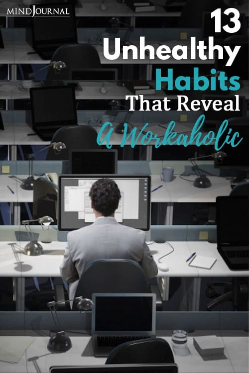 Unhealthy Habit Reveal Workaholic pin