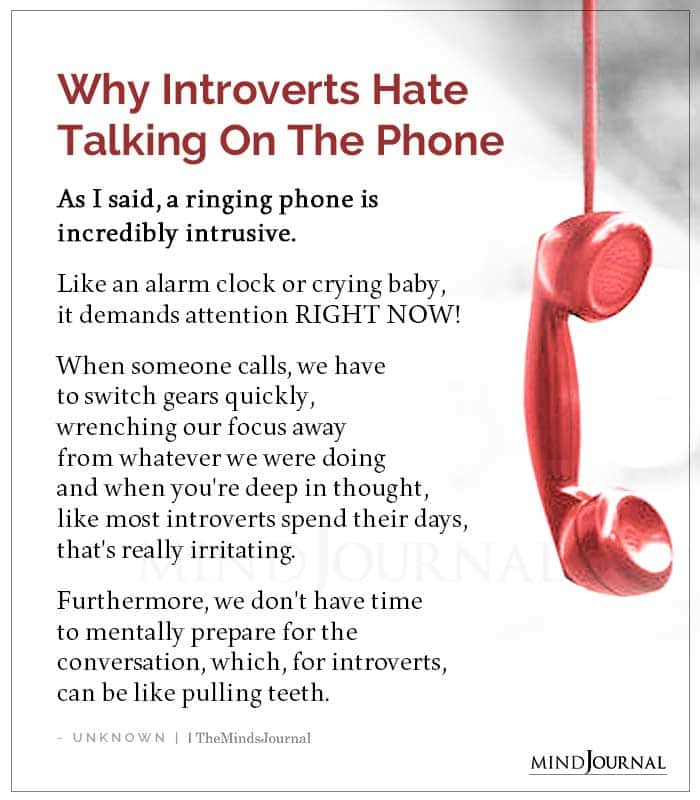Why Introverts Hate Talking On The Phone
