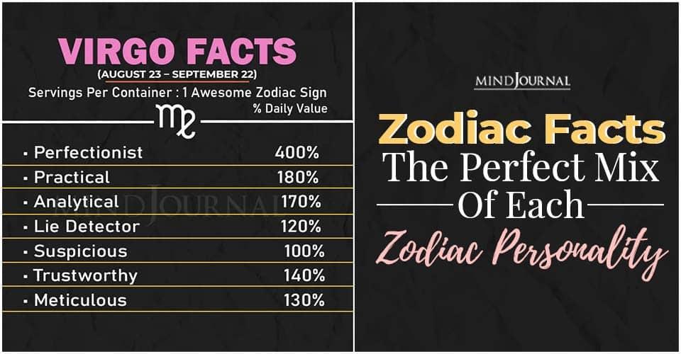 Zodiac Facts Perfect Mix Zodiac Personality