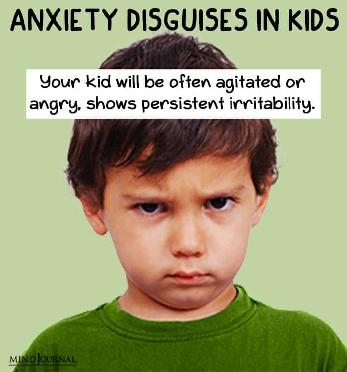 anxiety disguise kids agitated