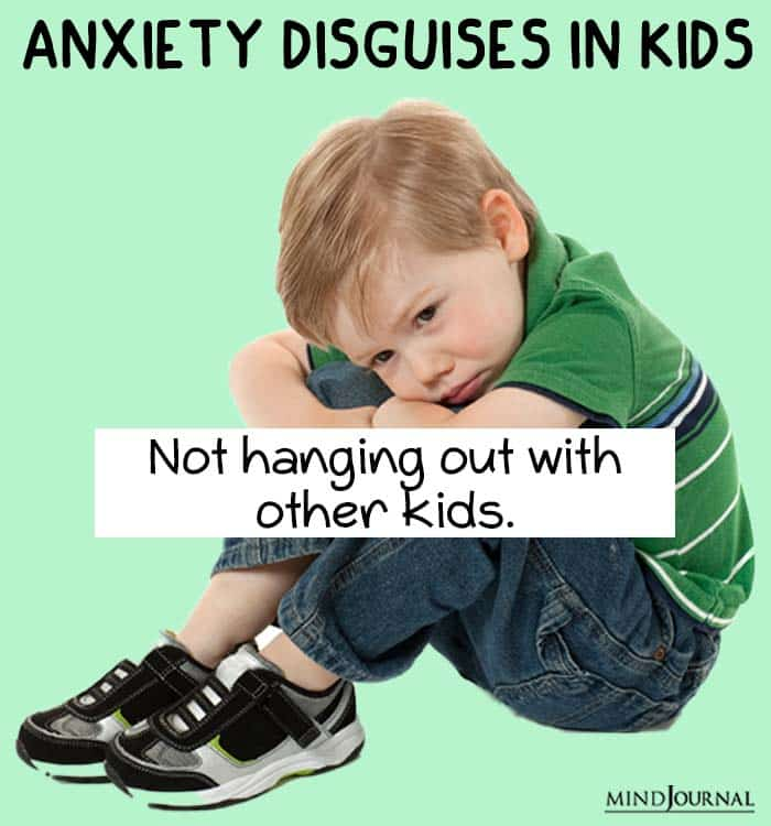 anxiety disguise kids hang out