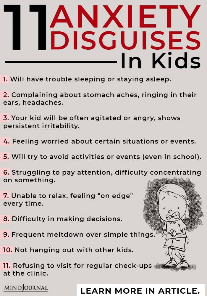 anxiety disguise kids info
