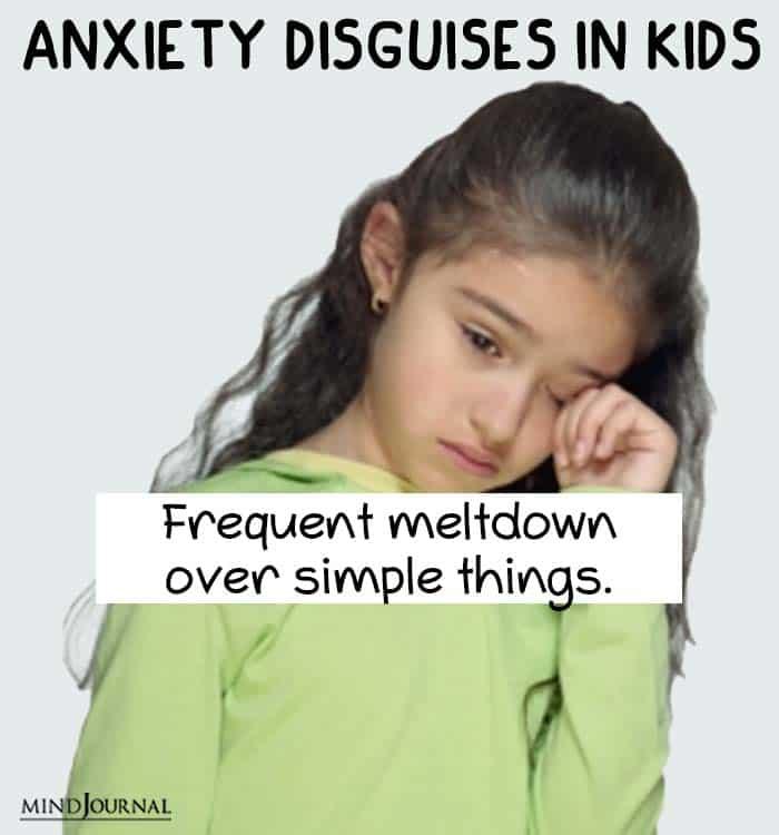anxiety disguise kids meltdown