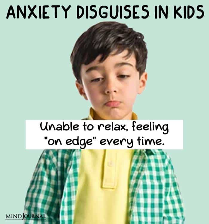 anxiety disguise kids relax