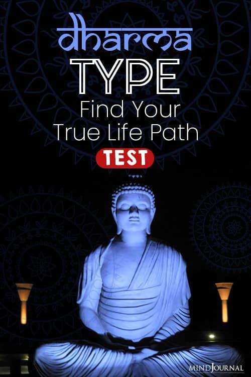 dharma type test quiz pin