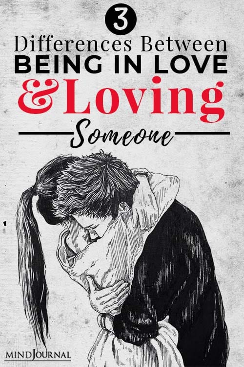 differences between being in love and loving someone pin