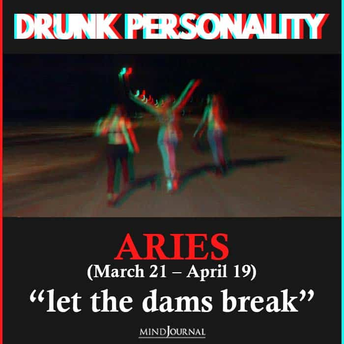 drunk personality aries