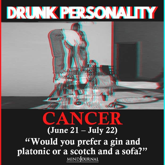 drunk personality cancer