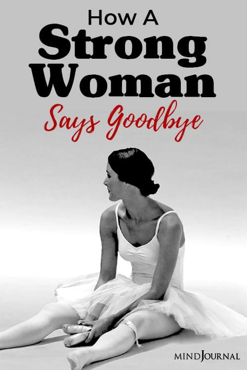 how a strong woman says goodbye pin